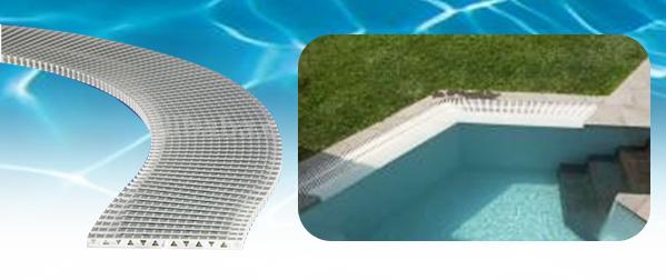 rejillas de fondo y perimetral para piscinas piscinas